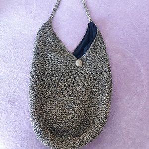 Vintage Straw Crossbody Purse